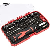 Amazon Basics 73-Piece Magnetic Ratchet Wrench and Screwdriver Set