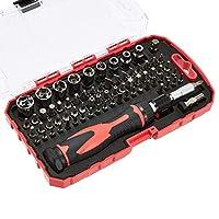 AmazonBasics Juego de destornillador y llave de carraca, magnético, 73 piezas