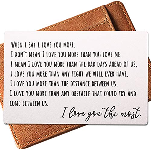 Engraved Wallet Inserts, Permanent Etching Engraving, Anniversary Gifts for Men, Best Mens Gifts...