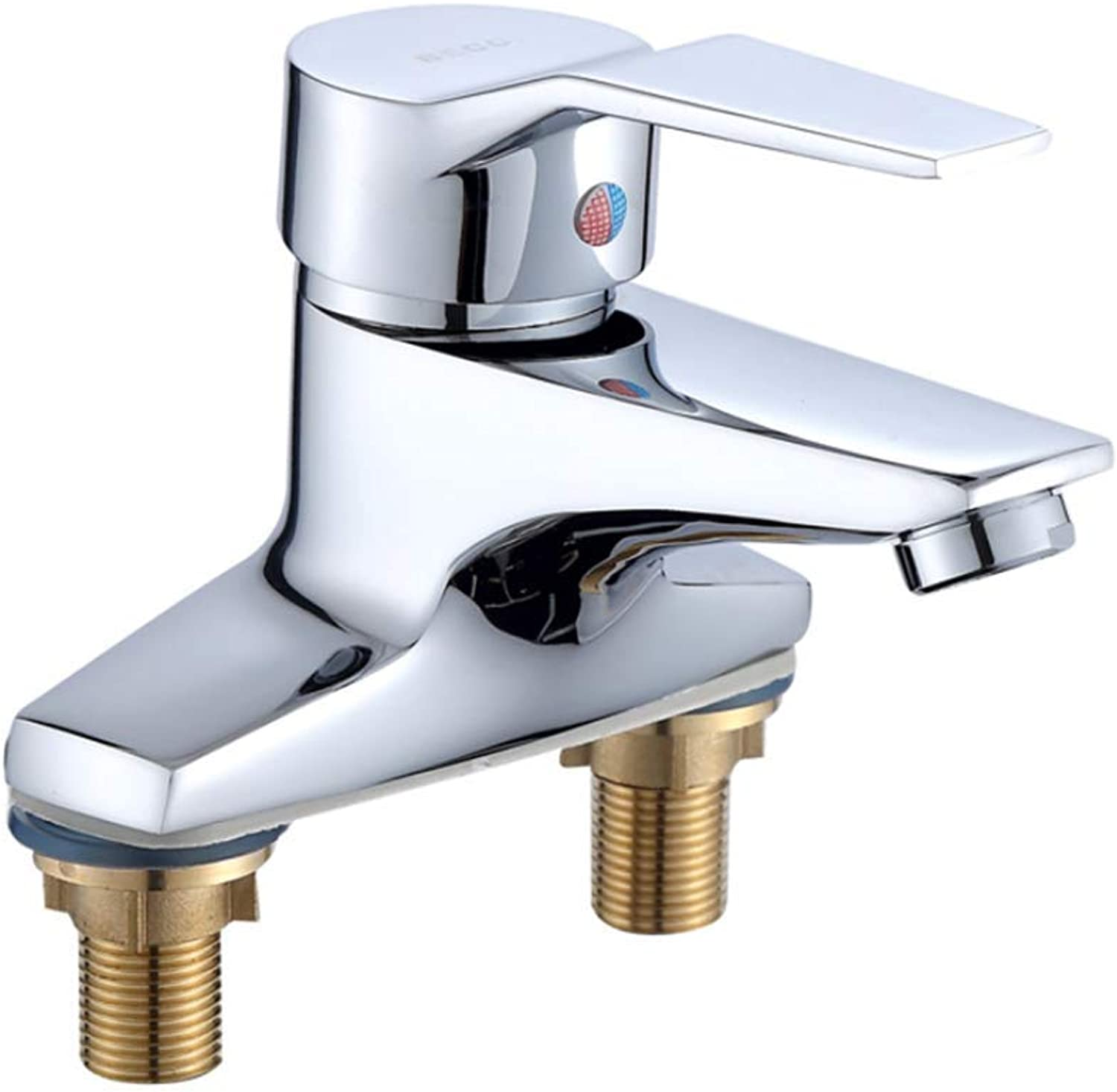 Basin Mixer Tap Bath Fixtures Wash Basinsinkkitchen Copper Double Hole Basin Faucet Two Face Basin Faucet