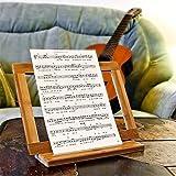 Relaxdays Buchstütze Bambus H x B x T: ca. 23,5 x 32 x 12 cm Buchständer für Koch- und Backbücher Buchhalter als Leseständer und Notenständer Kochbuchhalter für dicke Bücher Rezepthalter Holz, natur - 4