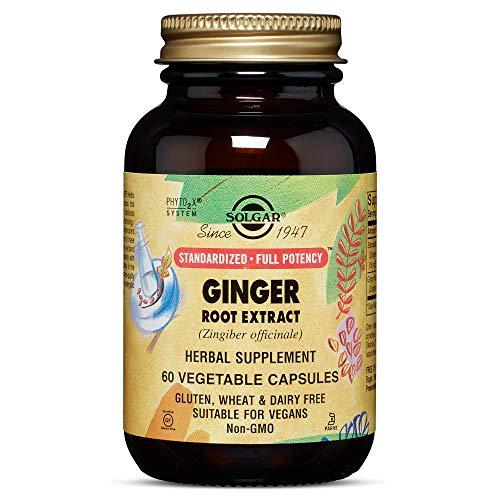 Solgar - Standardized Full Potency Ginger Root Extract, 60 Vegetable Capsules