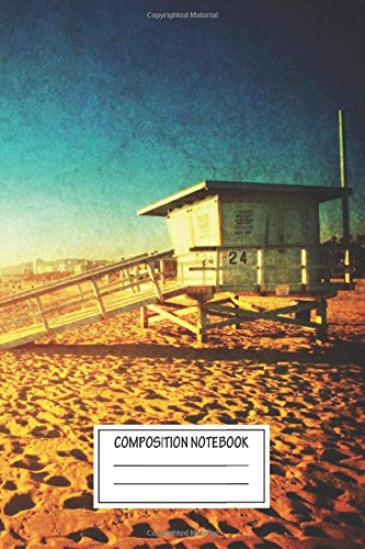 Composition Notebook: Landscapes Venice Beach California Wide Ruled Note Book, Diary, Planner, Journal for Writing