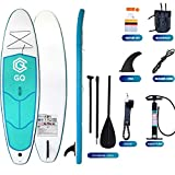 QDWRF Sup Stand Up Paddleboard Set, con Paleta De Aluminio, Mochila, Bomba De Mano, Cinturón, Aleta Y Kit De Reparación para Principiantes Adultos/Carga Máxima Intermedia 150 Kg