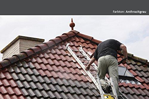 BEKATEQ BE-510 Dachfarbe, 20l Anthrazitgrau, für Ziegel, Dachpfanne, Eternit - Dachsanierung Dachbeschichtung Dachziegel Farbe