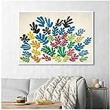 Cuadros de lienzo Cartel de flores de colores Cuadro de lienzo Cuadros de pared para sala de estar 60x80cm Con marco de acuarela