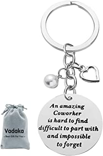 Coworker Leaving Heart Keychain for Colleague Friends Boss an Amazing Coworker is Hard to Find Keychain Goodbye Farewell Gifts Going Away Thank You Keychain for Coworkers Office Work Friend Gift