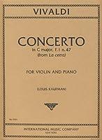 """VIVALDI - Concierto en Do Mayor (RV181a) Op.9 nコ 1 """"La Cetra"""" para Violin y Piano (Kaufman)"""