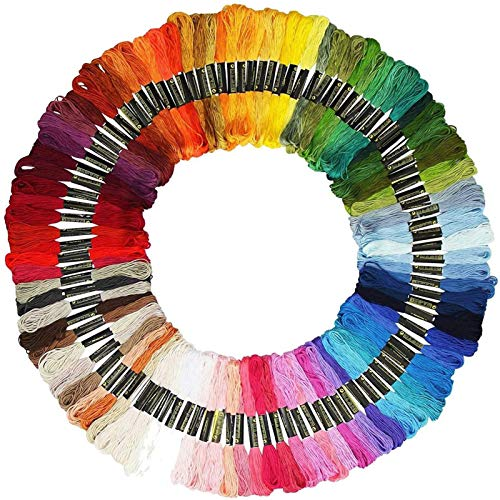 BENEFAST Hilo de bordar, 100 colores, 8 m, 6 hilos, poliéster, algodón, ganchillo, perfecto para pulseras de la amistad, anillos para el pelo, nudos, manualidades, punto de cruz