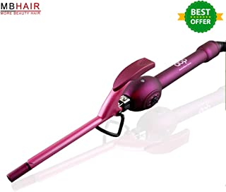 9mm Unisex Hair Curler, MBHAIR Hair Curling Iron Wand Professional Super Tourmaline Ceramic Barrel Small Slim Tongs for Short and Long Hair