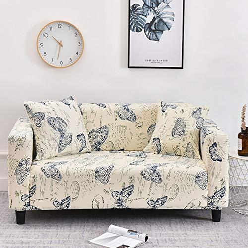 WXQY Fundas con Estampado Floral Funda de sofá elástica elástica Funda de sofá con protección para Mascotas Funda de sofá con Esquina en Forma de L Funda de sofá con Todo Incluido A17 1 Plaza