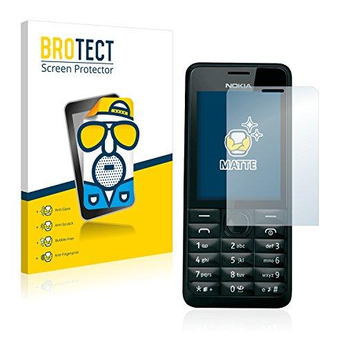 brotect Pellicola Protettiva Opaca Compatibile con Nokia 301 Pellicola Protettiva Anti-Riflesso (2 Pezzi)
