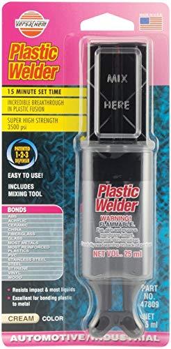Versachem Plastic Welder / 2 Komponenten Methylmethacrylat-Klebstoff | Sahne | Doppelspritze 25ml | Kunststoffkleber, ABS kunststoffkleber