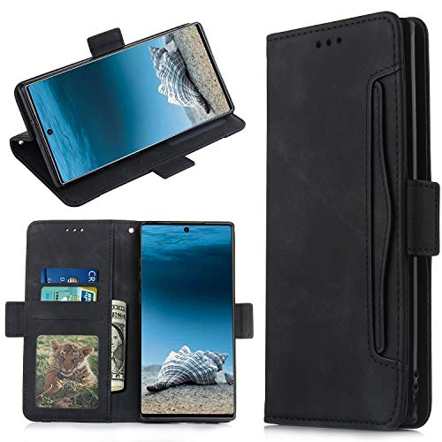 QiongniAN Cover per Samsung Galaxy Note 10+ 5G,Custodia per Samsung SM-N976V Galaxy Note 10+ 5G / SM-N976U SM-N976B SM-N976N SM-N9760 Custodia Case Cover Black