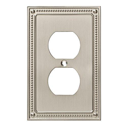 Franklin Brass W35059-SN-C Classic Beaded Single Duplex Wall Plate/Switch Plate/Cover, Satin Nickel