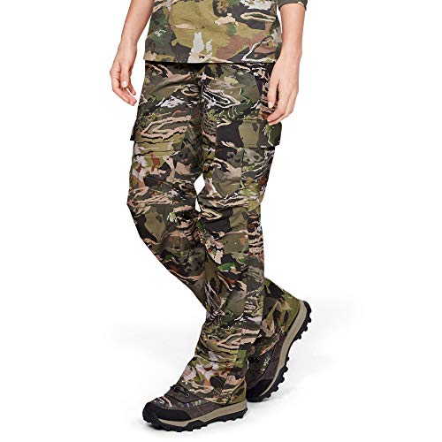 Under Armour Women's Tactical Patrol Pant, Ua Forest Camo (940)/Charcoal, 12