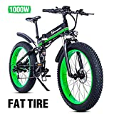 26 Pollici Fat Tire Electric Bike 1000W 48V Snow E-Bike Shimano 21 velocità Beach Cruiser Mens...