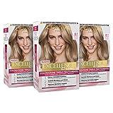 L'Oréal Paris Tinta Capelli Excellence, Copre Il 100% dei Capelli Bianchi, a Lunga Durata, Biondo Chiaro Cenere, Confezione da 3