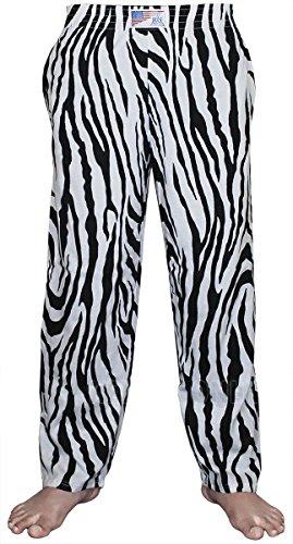 Baggy Pants / Sporthose / Trainingshose / Alltagshose für Herren, S/M, L/XL, XXL, 3XL, 4XL, 5XL Gr. XXL, zebra