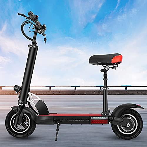 Amortiguador doble,Capacidad de carga máxima de 120 kg,Scooter eléctrico todoterreno adulto,Scooter de pasajero de doble freno,E-Scooters de aluminio plegable,Distancia máxima de 48 V 60 KM