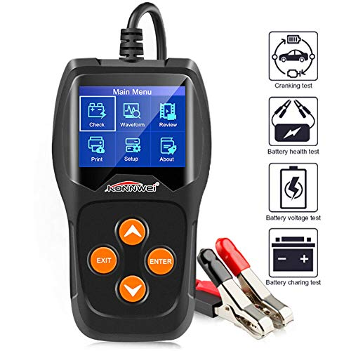 Great Features Of KONNWEI Professional Car Battery Tester on Cranking System, Charging System,100-20...