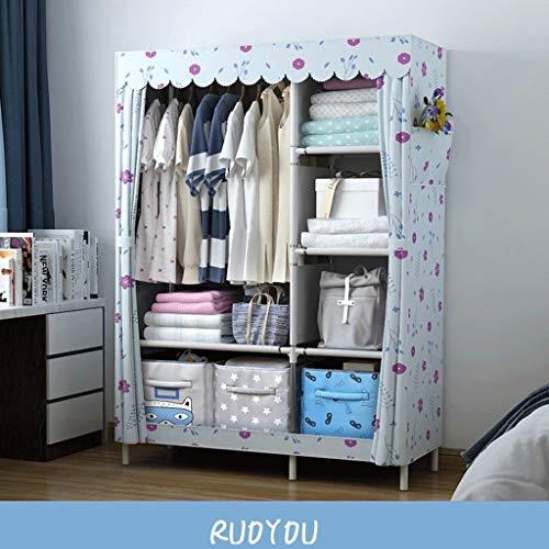 GZQDX kast draagbare garderobe duurzame kleding opslag fleece kledingkast opslagorganisator met hangstang en