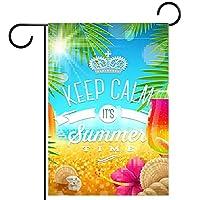 小さな庭の旗庭の装飾芝生の装飾ホオジロ旗屋外の農家の装飾 夏休みの挨拶 両面バナー紬生地