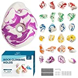 BABY FUN 24 Climbing Holds for Kids and Adults, Rock Climbing Holds - Mounting Hardware Included - Climbing Rocks for DIY Rock Climbing Wall