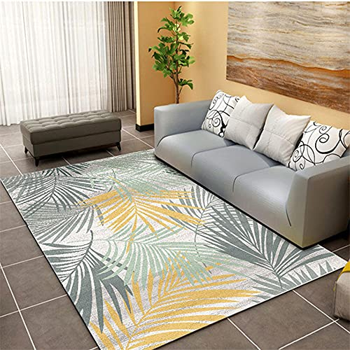 girls rugs Living room carpet yellow messy leaves pattern durable carpet anti-mites Yellow classroom rug 80x120cm small carpets and rugs 2ft 7.5''X3ft 11.2''