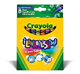 CRAYOLA-I Lavabilissimi Maxi Pastelli a Cera Ultra-Lavabili, per Scuola e Tempo Libero, Colori Assortiti, 8 Pezzi, 52-3282