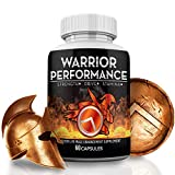 Warrior Performance Men's Testosterone Booster – Extreme Blood Flow Performance, Promotes Muscle, Optimizes Natural Stamina, Strength, Energy, Mood – 10X Strength Enhancing Pills - 60 Caps