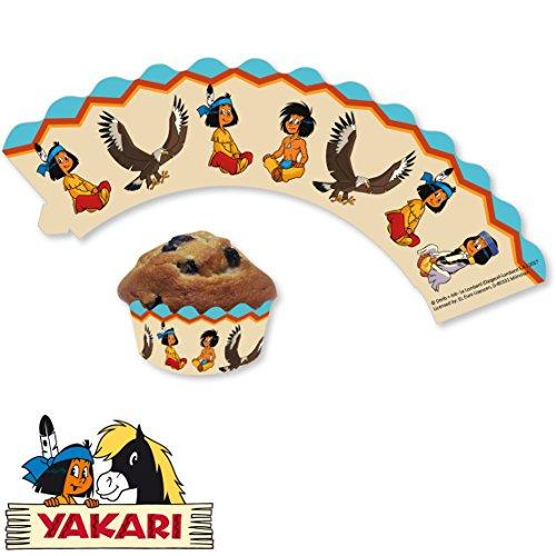 Yakari 12 Cupcake Banderolen Muffins und Cupcakes // Indianer Indianerjunge Sioux Kleiner Donner Party Kindergeburtstag Geburtstag Kinder Mottoparty
