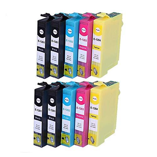 Teland E1281 T1281 - Cartuchos de tinta compatibles con Epson Stylus S22 SX-125 130 420W 425W 445W 230235W 445W 435W 430W 438W 440W T1285
