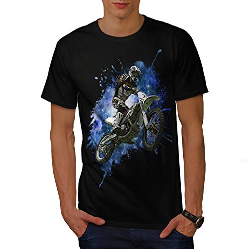 wellcoda Moto-Cross Fahrrad Sport Auto Männer T-Shirt, Himmel Grafikdesign gedruckt Tee