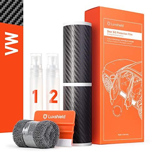 Luxshield Einstiegsleisten Schutz für Auto - Golf 7 (VII) AU/5G I 2012-2019 - Schutzfolie Autotür Zubehör Zierleisten Lackschutzfolie Carbon Schwarz