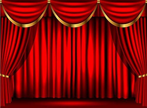 Donker Rood Gordijn Drape Stage Theater fotografie studio achtergrond Vinyl doek Computer print partij achtergronden CST1096