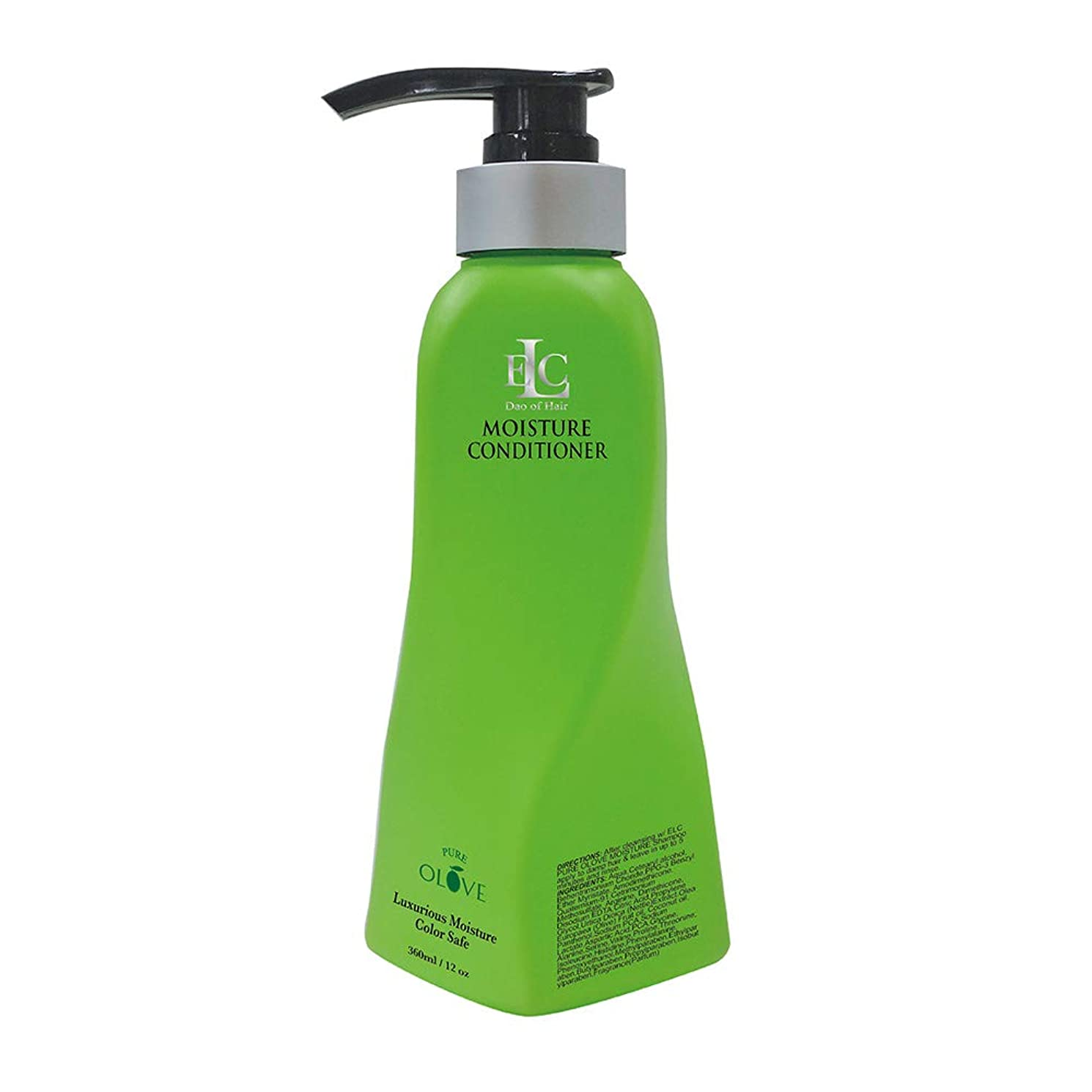 クリーク大破良さELC Dao of Hair ELCピュアOloveモイスチャライジングコンディショナー - モイスチャーリッチナチュラルボタニカル&有機油は、栄養を与え、修理、強化、ドライ髪を再水和 12オンス