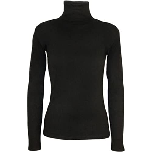 New Ladies Long Sleeve Turtle Polo Neck TOP Womens TOP Jumper 8-26  Black 233a1dc3e288