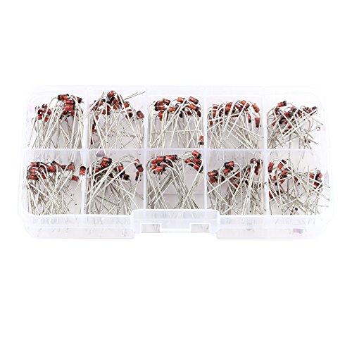 Juego surtido de diodos Zener de 1 W, 200 piezas, 10 valores, diodos reguladores de voltaje, 1N4728 1N4729 1N4730 1N4731 1N4732 1N4733 1N4734 1N4735 1N4736 1N4737, 3.3V - 7.5V