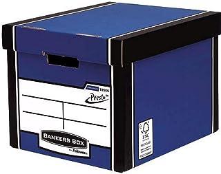 Fellowes 7260601 Grand Conteneur Banker Box Premium Montage Automatique - Bleu (Lot de 10)