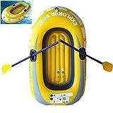 LTLWL Barca Hinchable Seahawk Portátil PVC Duradero Bote Inflable Kayak Hinchable Explorer Balsa para Rafting Gran Opción para Los Amantes de La Pesca o Los Deportes Al Aire Libre,150x100cm