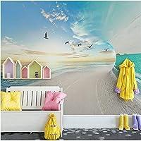 Lcymt 壁画壁紙現代3Dステレオ海空風景壁画壁紙リビングルーム寝室の背景壁家の装飾-250X175Cm