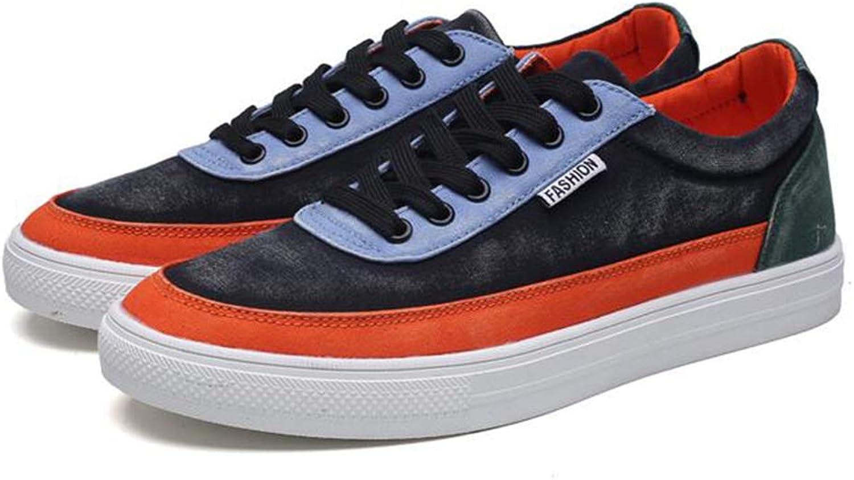 SUN Unisex Canvas shoes Low shoes Korean Version Sports shoes Six color Optional (color   3, Size   EU43 UK9 CN44)