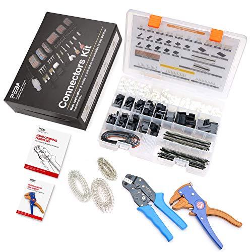 Dupont Crimpzange Werkzeug JST-XH-Anschluss Crimping Pins 2,54 mm Crimp Gehäuse Verbinder Cables Stecker Steckverbinder Tool Kit für Verbindungsstecker Breadboard 2650 pcs PEBA