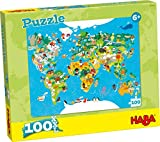 HABA-302003 Puzzle Mapamundi Puzle Infantil, Multicolor (302003)