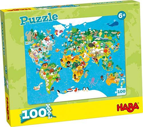 HABA 302003 Puzzle Weltkarte