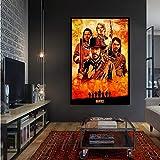 PHhomedecor Red Dead Redemption 2 Juego Lienzo Póster Pared Arte Impresión Pintura Papel Pintado Decorativo Lienzo Pintura para Sala De Estar(Sin Marco 50X70Cm),A1620