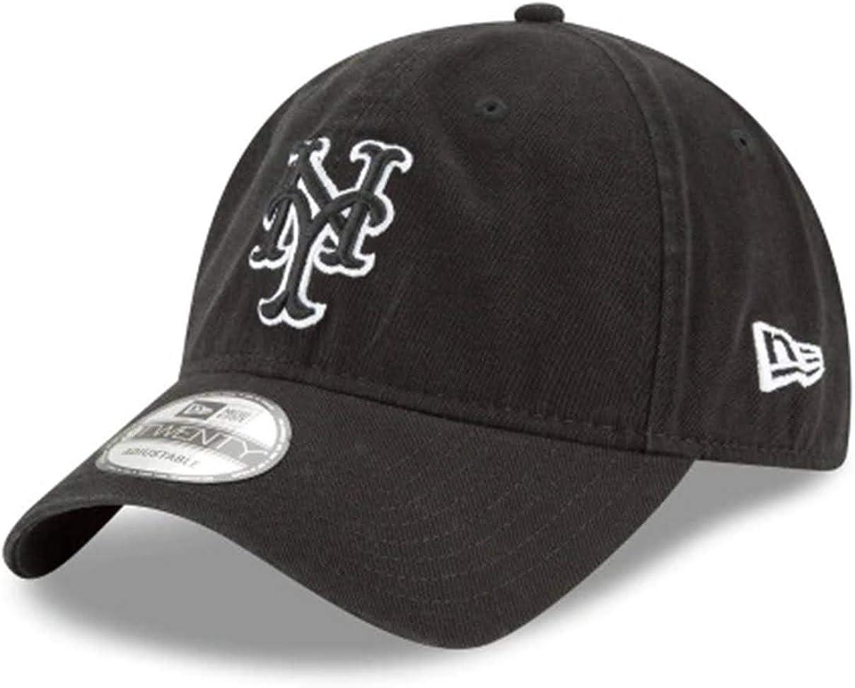 New York Mets Black Neo 9Twenty Adjustable Hat