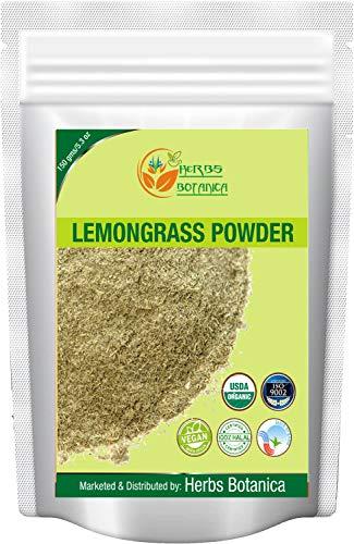 Herbs Botanica Natural Lemongrass Powder | Lemon Grass Powder Freshly Ground Dried Herb Powder 5.3 oz | 150 gms Used for cooking and Refreshing Lemongrass Tea |