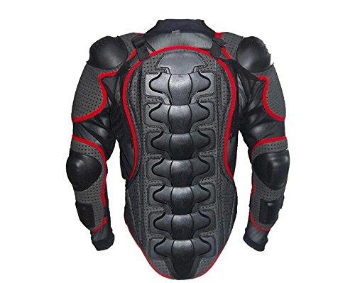 Pays de Galles Lucky Moto Full Body Armour Armour Veste pour homme Protector Guard Pro Motocross ATV Street Off Road Ski Skate Ski patinage Snowboard EVA S noir